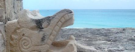 cancun maya skulptur