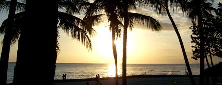 dominikanische republik sonnenuntergang