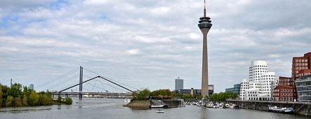 Düsseldorf Rhein Panorama