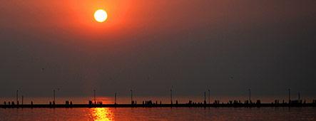 Indischer Ozean Sonnenuntergang