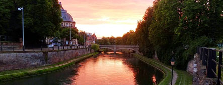 Straßburg Sonnenuntergang Alsace